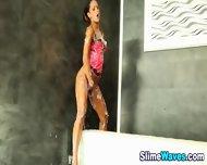 Bukkake Sprayed Euro Slut - scene 10