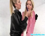Busty Femdom Harsly Punishing Oily Teens - scene 2