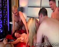 Naughty Orgy With Hotties And Their Men In This Xxx Reality Show - scene 5