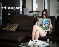 Bewitching Brunette With Glasses - scene 1