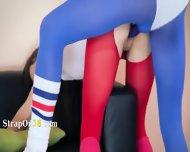 Hot Girl2girl In Pantyhose Enjoying Strap - scene 7