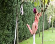 My Sleek Girlfriend In The Garden - scene 5
