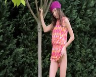 My Sleek Girlfriend In The Garden - scene 6