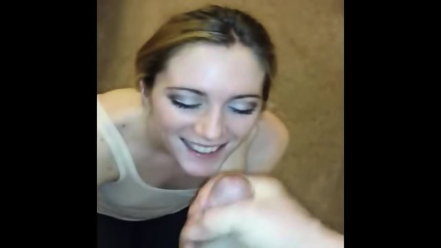 Her Beauty Face Gets Sprayed With Cum