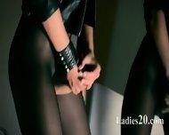 Mysterious Babe Masturbates With Vibrator - scene 12