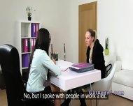 Brunette Female Agent Gets Cunt Eaten On Casting - scene 6