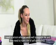 Brunette Female Agent Gets Cunt Eaten On Casting - scene 7