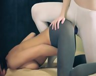 Amazing Hot Lezzs In Pantyhose - scene 10