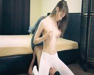 Amazing Hot Lezzs In Pantyhose - scene 2