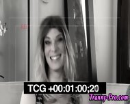 Stockings Tranny Facial - scene 2