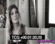Stockings Tranny Facial - scene 3