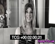 Stockings Tranny Facial - scene 4