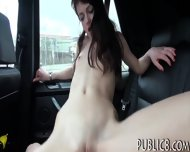 Tiny European Girl Pussy Fucked In The Car For Cash - scene 10