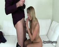 Beautiful Amateur Sucks To Fake Agent On Casting - scene 8