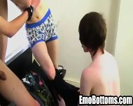 Three Emo Twinks Sucking On Each Others Hard Cocks - scene 5
