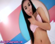 Solo Asian Ladyboy Jizzes - scene 2