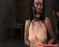 Bit Gagged Brunettes Nipple Torture - scene 6
