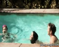Goth Slut Fucked In Pool - scene 9