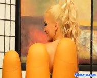 Strapon Weilding Lesbian Dominates Euro Slut - scene 1