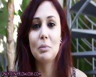 Redhead Suck Teen Facial - scene 2