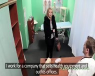 Doctor Fucks Blonde Sales Woman In An Office - scene 1