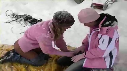 Lesbians having Fun in the Snow - scene 10