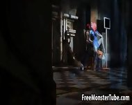 Sexy Blue 3d Cartoon Babe Gets Fucked By Magneto - scene 8