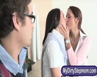 History Prof Ava Addams Crazy Threesome With Her Students - scene 1