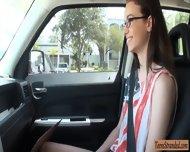 Skinny Brunette Teenie Tali Dava Banged And Cum On Glasses - scene 2