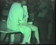 Asian Couple at Dark in the Park - scene 2