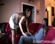 Mature Give A Lot Younger Guy A Striptease - scene 1