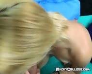 Hot Blonde Taking Cumshot On Her Face - scene 4