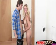 Dakota Skye N Cherie Deville Sharing Hard Cock On The Bed - scene 5