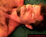 Mature Straight Bear Dilf Gets A Facial - scene 9