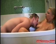In The Warm Soapy Bath With Granny - scene 6