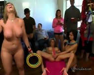 Sara Jay & Friends Playing Sex Games Inside The Dorm - scene 6
