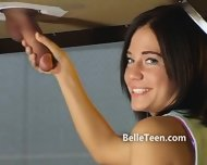 Upside Down Gloryhole Teen Tease - scene 9