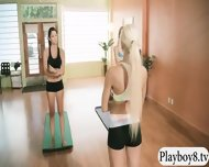 Hot Babes Taught New Techniques In Yoga With Busty Trainer - scene 2