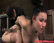 Hair Bondage Lover Gets Her Pussy Toyed - scene 2
