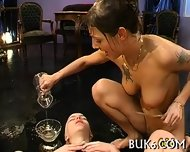 Lesbians Gets Group Pissing - scene 11