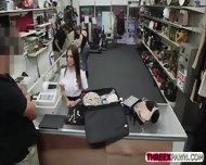 Sizzling Latina Stewardess Gets Hummped On Pawnshop For Cash - scene 6