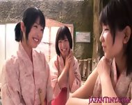 Tiny Japanese Babes Sharing Cock In Onsen - scene 3