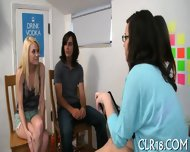 Pretty Teens Suck Cocks - scene 8