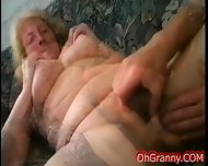 Busty Blonde Granny Fingered - scene 8