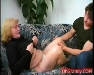 Busty Blonde Granny Fingered - scene 3