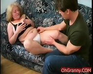 Busty Blonde Granny Fingered - scene 4