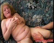 Busty Blonde Granny Fingered - scene 6
