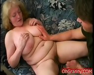 Busty Blonde Granny Fingered - scene 7