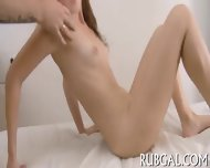 Hot Gf Demonstrates Oiled Body - scene 11