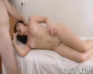 Hot Gf Demonstrates Oiled Body - scene 12